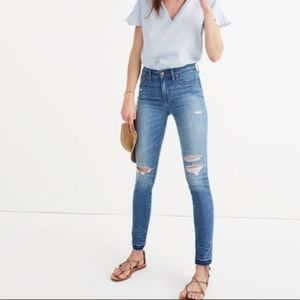 """Madewell - 9"""" High Rise Skinny Distressed Jeans"""